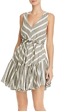 Significant Other Sleeveless Striped V-Neck Dress