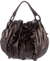 Prada Nappa Ruffle Shoulder Bag