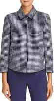 Armani Collezioni Check-Print Virgin Wool Jacket
