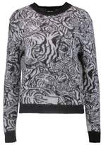 Just Cavalli Two-Tone Mohair-Blend Sweater