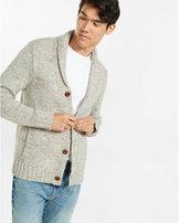 Express nep knit shawl collar cardigan