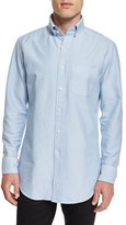 Tom Ford Tailored-Fit Washed Oxford Dress Shirt, Light Blue