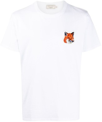 MAISON KITSUNÉ embroidered fox T-shirt