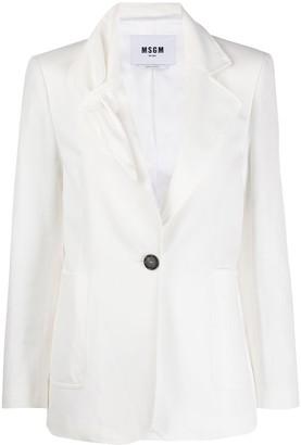 MSGM Ruched Collar Blazer