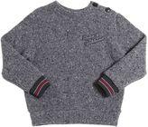 Dolce & Gabbana Wool Tricot & Cotton Fleece Sweater