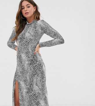 Wednesday's Girl midi dress in animal print