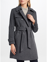 Lauren Ralph Lauren Wool Blend Trench Coat, Grey