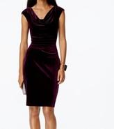 Vince Camuto Purple Wine Women's Size 8 Velvet Sheath Dress
