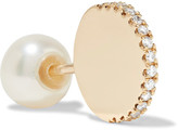 Delfina Delettrez 18-karat Gold, Diamond And Pearl Earring