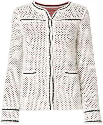 Charlott fitted perforated jacket