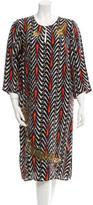 Figue Silk Embellished Dress