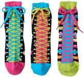 LittleMissMatched Little Miss Matched Girls 4-9 Little Miss Matched 3-pk. Zany Sneaker Anklet Socks