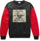 Dries Van Noten Quilted Printed Satin, Jersey And Felt Sweatshirt