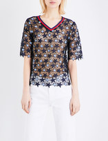 Sandro Star guipure-lace top