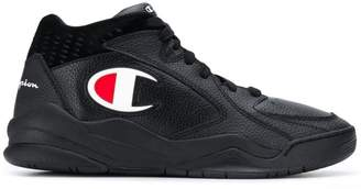 Champion logo mid-top sneakers
