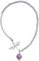 Murano Martick Glass Dragonfly Bracelet
