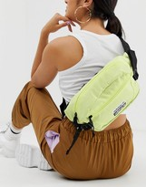 adidas fanny pack in neon yellow