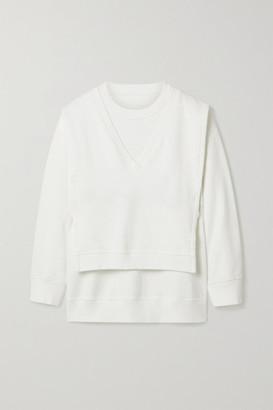 MM6 MAISON MARGIELA Oversized Layered Printed Cotton-jersey Sweatshirt - Ivory