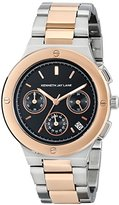 Kenneth Jay Lane Women's KJLANE-2133 Chronograph Black Dial Two Tone Stainless Steel Watch
