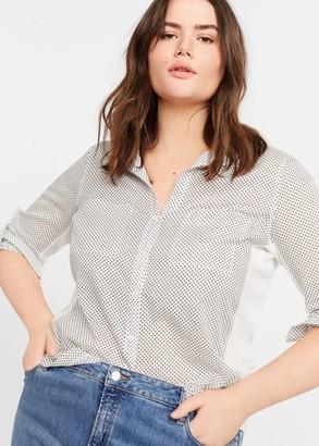MANGO Micro print shirt