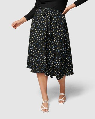 Forever New Curve - Women's Midi Skirts - Ainsley Curve Button Through Midi Skirt - Size One Size, 16 at The Iconic
