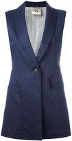 Erika Cavallini - elongated waistcoat - women - Polyester/Spandex/Elastane/Viscose - 42