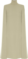 Valentino Cape-back silk-cady midi dress