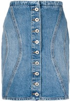 Marcelo Burlon County of Milan buttoned denim skirt