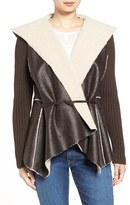 Sam Edelman Women's Faux Shearling Hooded Jacket