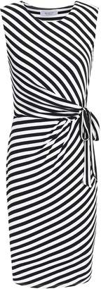Bailey 44 Ruched Striped Stretch-jersey Dress