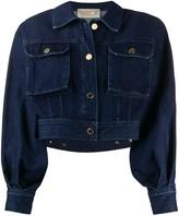 Alberta Ferretti rounded shoulder denim jacket