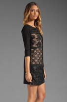 Plenty by Tracy Reese Patchwork Lace Front Shift Dress