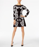 INC International Concepts Floral Sweater Dress, Only at Macy's