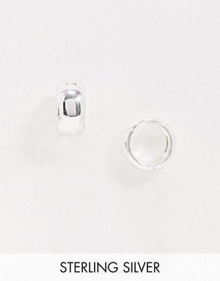 Topshop House Of Freedom House of Freedom by chunky huggie hoop earrings in silver