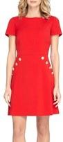 Tahari Button Front A-Line Dress (Regular & Petite)