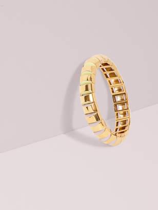 Kate Spade sliced scallops small metal stretch bracelet
