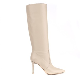 Gianvito Rossi Beige Hansen Leather Boot