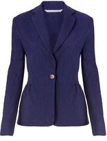 Diane von Furstenberg Gavyn Textured Cotton Slub Blazer
