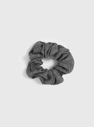 Evans Grey Metallic Scrunchie