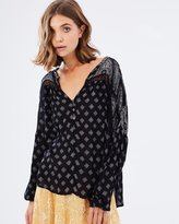 Amuse Society Woven Globe Trotter Blouse