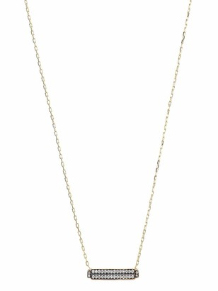 Sorellina 18kt yellow gold diamond Otto bar necklace
