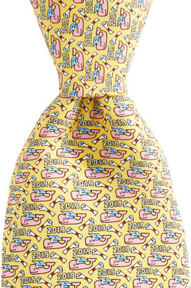 Vineyard Vines 2019 Graduation Whale Printed Tie
