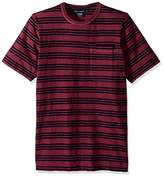 French Connection Men's Short Sleeve Stripe Crew Neck Cotton T-Shirt