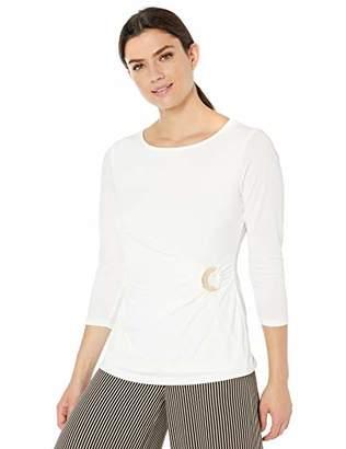 Calvin Klein Women's 3/4 Sleeve TOP W/Hardware
