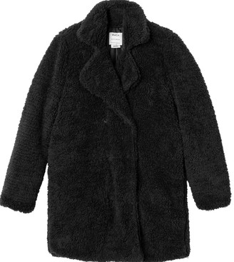 RVCA Junior's Warm Me Up Faux Fur Trench Jacket