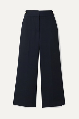 Veronica Beard Aubrie Cropped Cady Straight-leg Pants - Midnight blue