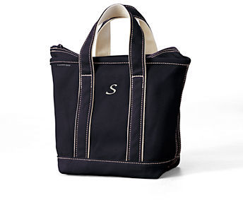 Lands' End Small Colored Zip Top Tote Bag