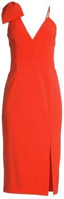 Rebecca Vallance Claudette Bow Detail Crepe Dress