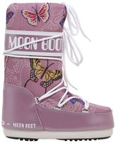 Moon Boot Butterfly Printed Nylon Snow Boots
