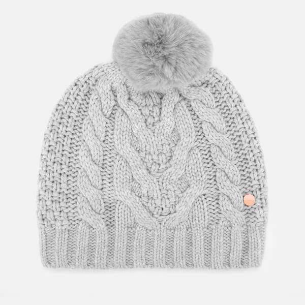 9a3ad7d1007f06 Grey Knitted Hat - ShopStyle UK